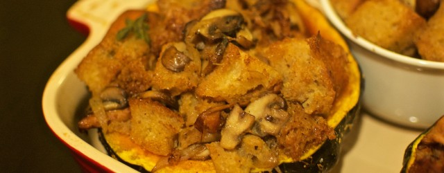 Nosherium Thanksgiving Mushroom Stuffing-Stuffed Kabocha Squash Cover