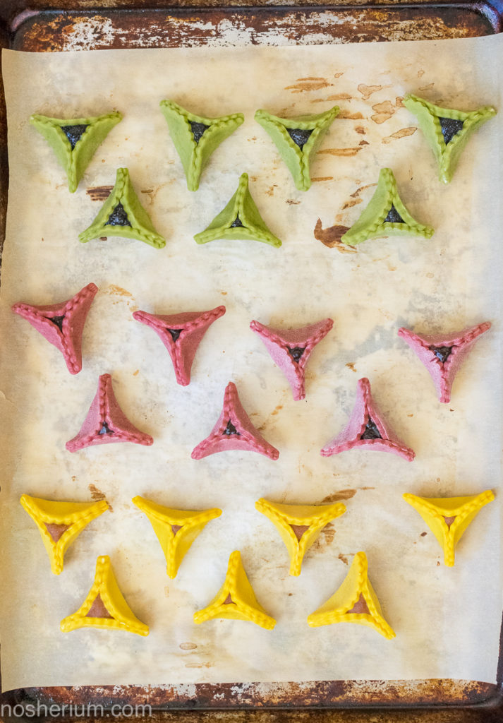 Nosherium Supernatural Colorful Hamantaschen Butter Cookies (4 of 9) - all natural dyes!