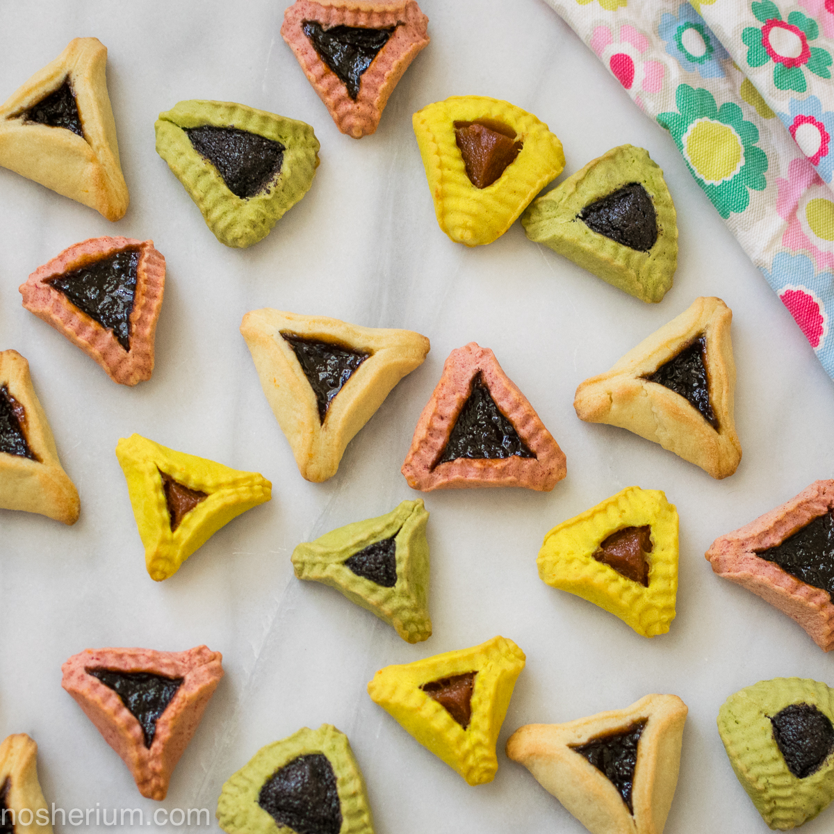 Supernatural Colorful Hamantaschen