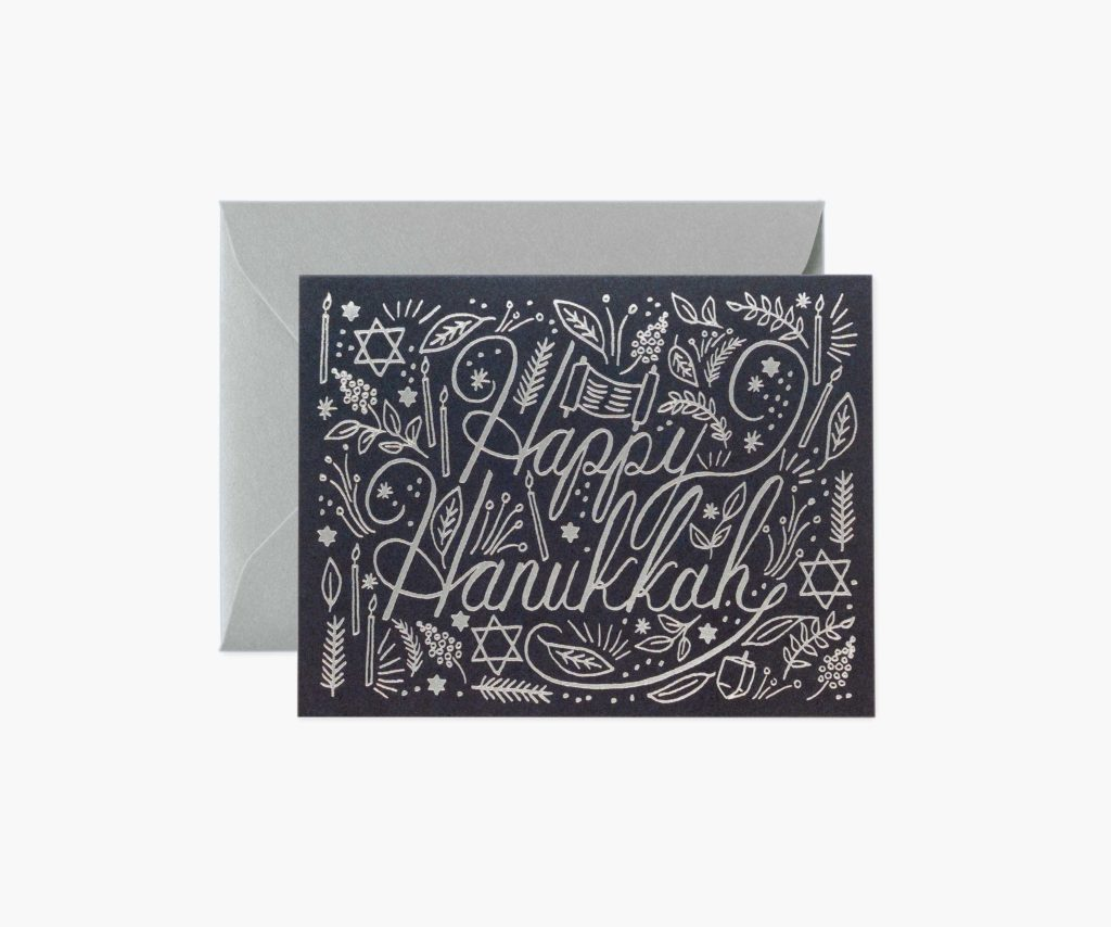 Rifle Paper Co. Silver Hanukkah card
